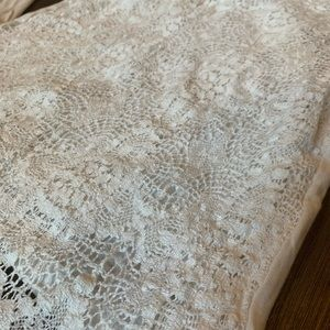 J. Crew Tops - J. Crew White Lace 3/4 Sleeve T-Shirt Medium